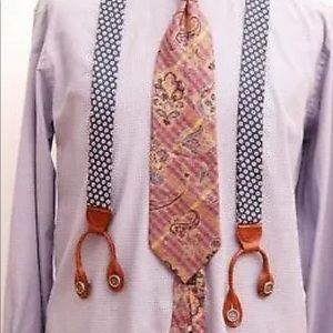 CHURCH'S British Tan Leather Braces Suspenders